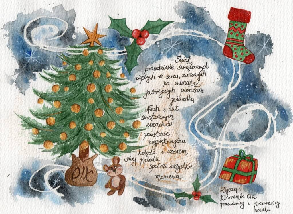 Personalizowane życzenia świąteczne od Kierownictwa Ośrodka oraz kadry